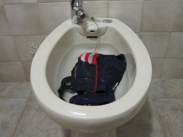 I wasn't sure of this device's proper use (until later), but it worked fine for washing the uniform.